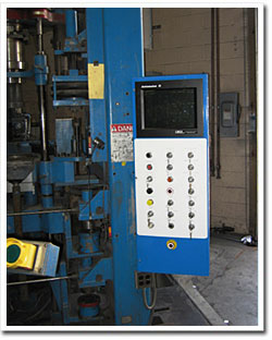 Powdered Metal Press Control Panel - Outside